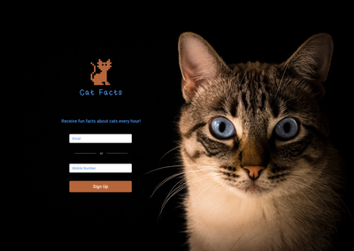 Cat Facts Login Page