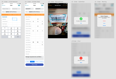 Screenshot of a prototype from Sketch of an Android App for delivery persons